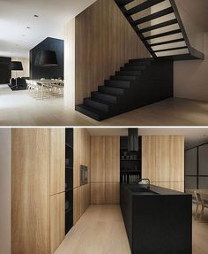 Tamizo Architects - P house interior Interior Design Kitchen, Modern Interior, Interior And Exterior, Interior Colors, Scandinavian Interior, Interior Stairs, Interior Architecture, Küchen Design, House Design