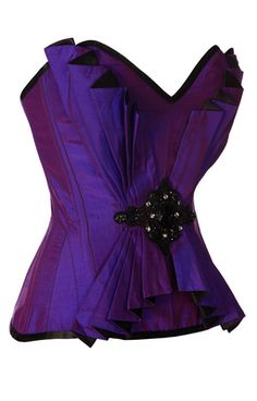 http://thevioletvixen.com/corsets/burlesque-bombshell-deep-purple-purple-black-corset/ Fancy!