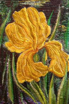 Mitra McQuilton, one of the finest Textile artists in Thread Painting