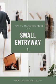 How to Make the Most of a Small Entryway: With a little creativity, and the right products, you can make your small entryway a simple, functional, and beautiful space. Hanging Shelves, Beautiful Space, Home Organization, Wood Wall, Make It Simple, Entryway, Creativity, Make It Yourself, How To Make