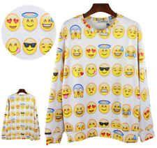 New Womens/Mens Pullovers Emoji Emotion print 3d cute Sweatshirts Hoodies top