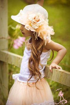 Girl in her Easter bonnet