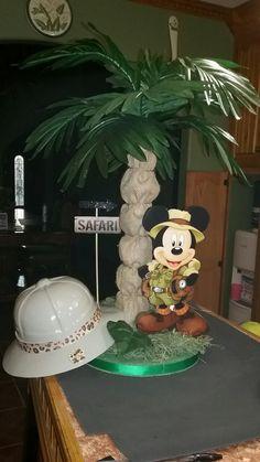 Centro de mesa de mickey safari