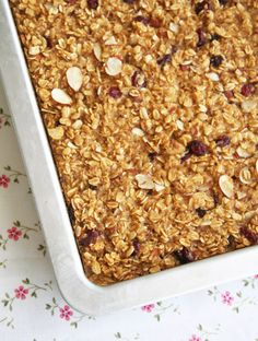 Cranberry-Almond Oatmeal Bake: This is not a bar or cookie, it's a baked oatmeal, for breakfast.