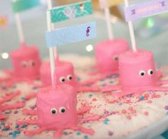 Marshmallow Octopus creatures are the ideal treat for mermaid parties!