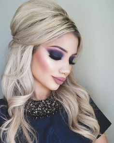 Dramatic eye makeup that would be perfect for Halloween.
