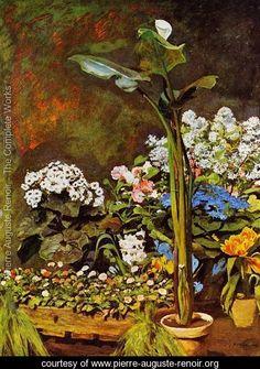 Arum And Conservatory Plants  Pierre Auguste Renoir