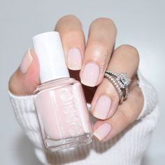 essiepolish Bridal Collection, nails for sorority recruitment Love Nails, How To Do Nails, Pretty Nails, Fun Nails, Wedding Manicure, Bridal Nails, Manicure And Pedicure, Nail Art Vernis, Pale Pink Nails