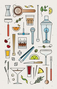 Bar Tools No. 2 Print 11 x 17 on French by downtimecollective