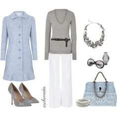 Light Blue and Grey Classic (Closed Heather Grey V-Neck Cashmere Sweater | STYLEBOP.co.uk $275)