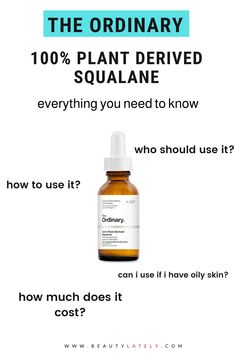 Do you know the difference between squalane and squalene? Here's everything you need to know about The Ordinary 100% Plant-Derived Squalane, a vegan, oil-free formula that hydrates and protects the skin. The Ordinary Oily Skin, The Ordinary Uses, The Ordinary Reviews, The Ordinary Products, The Ordinary Skincare, The Ordinary Plant Derived Squalane, The Ordinary Squalane, Non Comedogenic Oils, Healthy Skin Tips