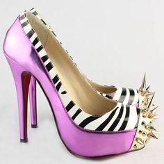 Zebra and spikes cute