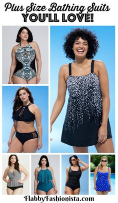 Bathing suit shopping doesn't have to be miserable! These Plus Size Bathing Suits are absolutely fabulous! You're sure to find one that will fit & flatter!