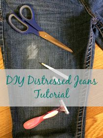 Real Girl's Realm: Distressed Jeans Tutorial The post Real Girl's Realm: Distressed Jeans Tutorial appeared first on Jean. Diy Distressed Jeans Tutorial, Diy Ripped Jeans Tutorial, Distressed Denim, Distressed Clothes, How To Make Ripped Jeans, Jean Destroy, Ripped Jeggings, Skinny Jeans, Diy Shorts
