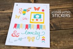 Printable Pattern Stickers :: Fill Pattern Tutorial