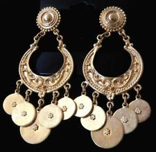 Stunning! Ben Amun 24K Gold Plated Coin Chandelier Earrings $ 145 ...