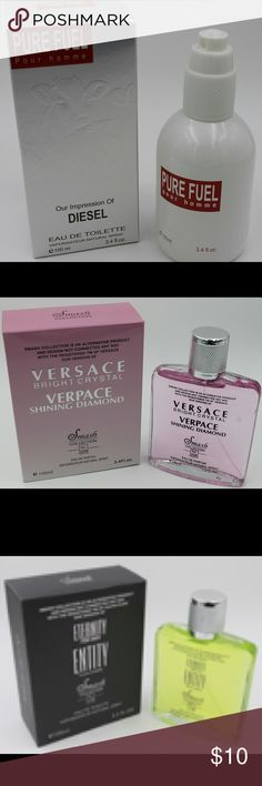Perfume & Cologne Deal 1 For $10 or 3 For$20 What a deal!! Mix & Match. Will also do wholesale deal..  These fragrances are imitations/versions of designer fragrances. They have the same long lasting great scent as the designer for more than half the price of the designers. Perfect deal for resellers Accessories