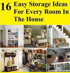 16 Easy Storage Ideas For Every Room In The House