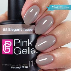 Pink Gellac #168 Elegant Taupe - available at Chickettes Boutique
