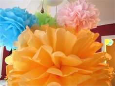 The Modest Homestead: DIY Tissue Paper Pom Poms