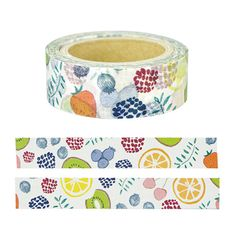 Japanese Washi Tape • Chobit Wit Masking Tape - Fruits Create adorable projects using this Japanese Washi Tape. They are easy to tear, you can write on it and they are easy to reposition. Featuring br