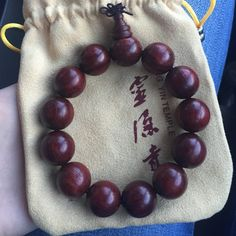 Padauk buddha beads. Bought in a famous temple in China. High end Padauk jewelry. Brand new, never worn. Accessories