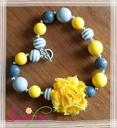 You Are My Sunshine Chunky Bead Bubblegum Necklace