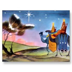 Vintage Christmas Greetings Postcard from Zazzle.com