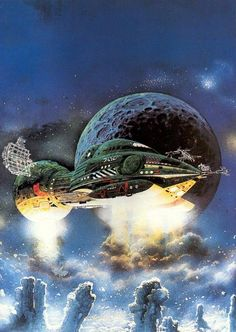 Science Fiction / Book Cover Art - Bob Layzell - Non-Stop by Brian Aldiss.