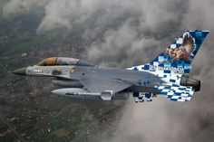 Belgian squadron with a special paint scheme for its year anniversary. Airplane Fighter, Airplane Art, Fighter Aircraft, Fighter Jets, F 16 Falcon, Aircraft Painting, Aircraft Photos, Paint Schemes, War Machine