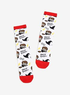 Harry Potter Allover Print Crew Socks,