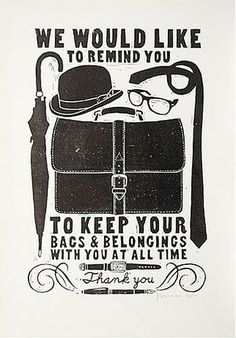 """Lithography : """"Bags"""", by James Brown"""