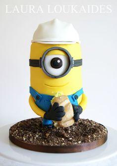 Construction Minion Cake