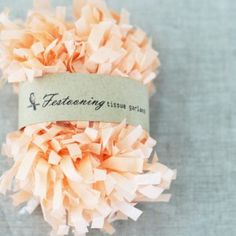 Peach tissue garland from emerald + ella (comes in lots of other colours)