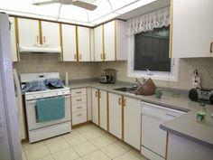 Tips For Updating Melamine Cabinets With Oak Trim | Pinterest | Oak Trim,  Hardware And Kitchens