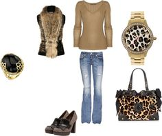 """""""leopard"""" by mandeeelle on Polyvore"""