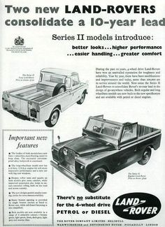 Two new Land-Rovers consolidate a lead. New Land Rover, Land Rover Series 3, Land Rover Defender 110, Landrover Serie, Landrover Defender, Range Rover Off Road, Mercedes Gl, Jeep Commander, Off Road Trailer