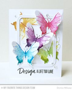Beautiful Butterflies Stamp Set and Die-namics, Single Stitch Line Rounded Rectangle Frames Die-namics, Boss Babe Stamp Set - Donna Mikasa   #mftstamps