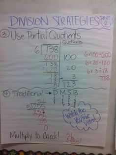 Worksheets 2 Digit Division Anchor Chart division anchor chart and charts on pinterest charts