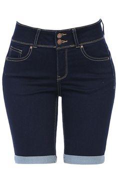 High Rise 5 Pocket Style Push Up Denim Jean Bermuda Shorts Long Blazer Jacket, Hoodie Jacket, Sexy Jeans, Denim Skinny Jeans, Ripped Bermuda Shorts, Lazy Day Outfits, Woman Outfits, Denim Fabric, Bermudas