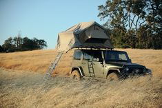This new Jeep Wrangler comes with a built in tent penthouse!! This has zoomed straight to the top of my life wishlist.