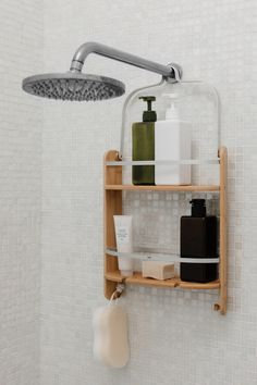 Looking to maximize your shower storage? These unique shower organization tools can help you restore a spa-like feeling to your shower—no matter its size. Walk In Shower Designs, Bathroom Organisation, Bathroom Caddy, Bathroom Storage Diy, Target Bathroom, Bathroom Sink Decor, Pantry Organization, Master Bathroom, Organizing