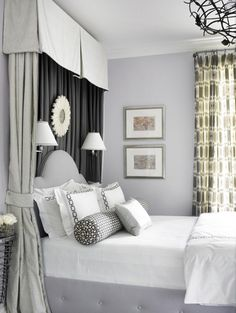 Valance above the bed