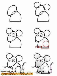 Dibuja un ratón paso a paso
