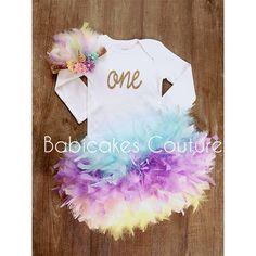 Unicorn 1st Birthday Outfit, Unicorn Cake Smash Outfit, Unicorn Headband, Unicorn Birthday Girl, Unicorn Feather Bloomer, Unicorn Baby Girl by BabicakesCouture on Etsy https://www.etsy.com/listing/520764163/unicorn-1st-birthday-outfit-unicorn-cake