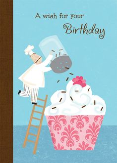 A wish for your Birthday  Inside: May your day be sprinkled with smiles and sweetness. Happy Birthday #MarianHeath