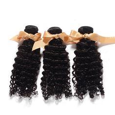3 Bundles Deep Curly Brazilian Hair 300g