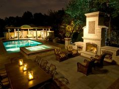 See how the pros use outdoor lighting to highlight landscape design and beautiful exteriors.