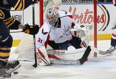 BUFFALO, NY - DECEMBER 09: Philipp Grubauer #31 of the Washington Capitals tends goal against the Buffalo Sabres during an NHL game at the KeyBank Center on December 9, 2016 in Buffalo, New York. (Photo by Rob Marczynski/NHLI via Getty Images)