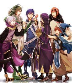 Fire Emblem Awakening Fan art. Aw! Poor Gaius! Everyone's eating his candy.